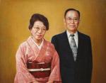 夫婦の人物肖像画 O・N様ご注文分