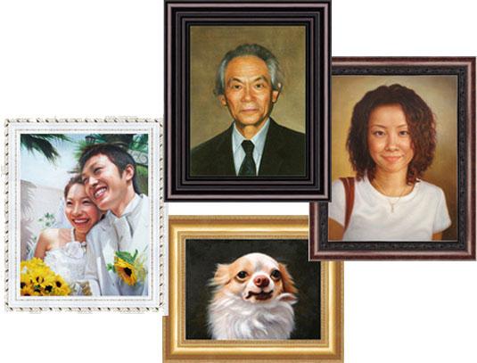 様々な肖像画の制作注文をお引き受けしています