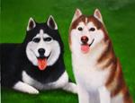 犬のペット肖像画3
